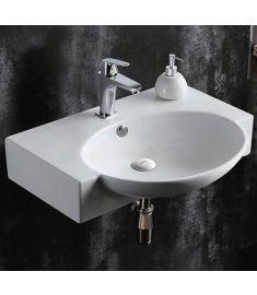 GH Design 65 cm-es szárnyas mosdó, íves-szögletes design, 65x50.5x15 cm
