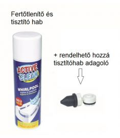 M-Acryl ACTIVE CLEAN fertőtlenítő és tisztító hab masszázsrendszerhez 15400