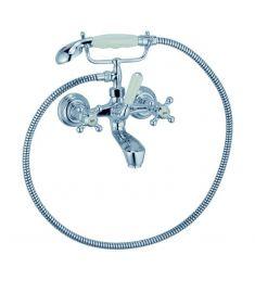 Kludi ADLON kádtöltő- és zuhany csaptelep falra szerelhető, zuhanyszettel 514410520