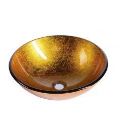 Sapho AGO üveg mosdó, átmérő 42 cm, arany 2501-19
