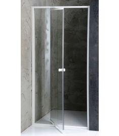 AQUALINE AMICO zuhanyajtó állítható 80-102x185 cm, fehér profil/transzparent üveg G80