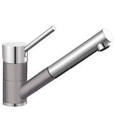 Blanco ANTAS-S mosogató csaptelep, kihúzható zuhanyfejes, alumetál/króm HD, 515349