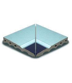 AQUA AZUL /AS 044 26.2x26.2 medence belső sarokelem csúszásmentes Rosagres