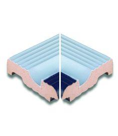 AQUA BLANCO /AS 088 11.9x11.9 medence belső sarokelem csúszásmentes Rosagres