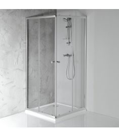 AQUALINE AGGA zuhanykabin, 80x80x185 cm, transzparent üveg/alu profil HLF808