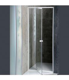 AQUALINE AMICO zuhanyajtó, állítható 74-82x185 cm, fehér profil/transzparent üveg G70