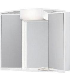 AQUALINE ANGY tükrös fürdőszoba szekrény, fehér, 59x50x15, 541202