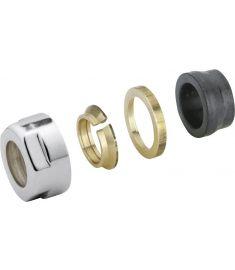 AQUALINE ECO szorítógyűrűs csavar, réz, 15 mm, menet 24-19, nikkel (pár) CP9990