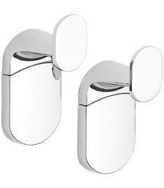 Aqualine ZERO fürdőszobai akasztó, 2 db, fém, 3x6.3x2.8 cm, króm, ZE001