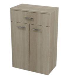 AQUALINE ZOJA/KERAMIA FRESH álló fürdőszoba szekrény, platina tölgy, 50x78x29, 50315