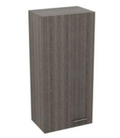 AQUALINE ZOJA/KERAMIA FRESH Felső fürdőszoba szekrény, platina tölgy, bal, 35x76x23, 50336