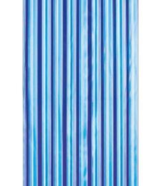 AQUALINE zuhanyfüggöny 180x180 cm vinyl, kék csíkos ZV011