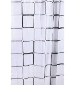 AQUALINE zuhanyfüggöny 180x180 cm vinyl, négyzet alakú mintázat ZV013