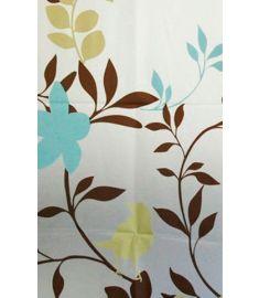 AQUALINE zuhanyfüggöny 180x180 cm vinyl, virágos ZV012