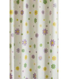 AQUALINE zuhanyfüggöny 180x180 cm vinyl, virágos ZV014