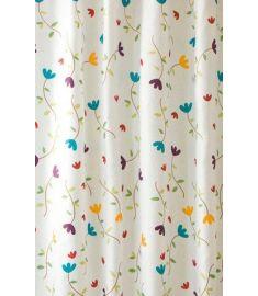 AQUALINE zuhanyfüggöny 180x200 cm Polyester, virágos, ZP007