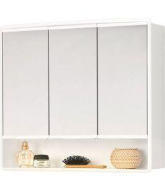 AQUALINE LYMO tükrös fürdőszoba szekrény 58x49x14,7 cm, fehér, 84132