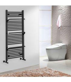 Arezzo Design SMART ANTRACIT törölközőszárító radiátor, egyenes, fekete, 120x50 cm, AR-SM12050A