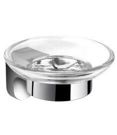 Ferro AUDREY szappantartó, üvegtállal, króm AD02