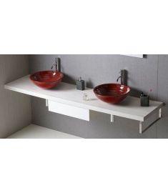 Sapho AVICE mosdópult 190x50 cm, tölgy antik fehér AV195