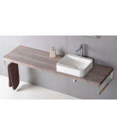 Sapho AVICE mosdópult 200x50 cm, rusztikus dió AV203