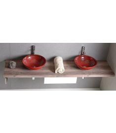 Sapho AVICE mosdópult 210x50 cm, rusztikus dió AV213