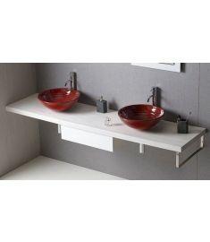 Sapho AVICE mosdópult 210x50 cm, tölgy antik fehér AV215