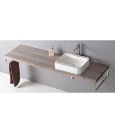 Sapho AVICE mosdópult 220x50 cm, rusztikus dió AV223