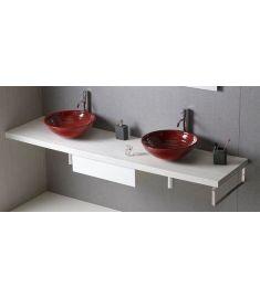 Sapho AVICE mosdópult 220x50 cm, tölgy antik fehér AV225
