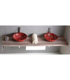 Sapho AVICE mosdópult 230x50 cm, rusztikus dió AV233