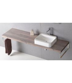 Sapho AVICE mosdópult 240x50 cm, rusztikus dió AV243