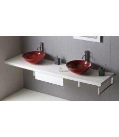 Sapho AVICE mosdópult 240x50 cm, tölgy antik fehér AV245