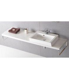 Sapho AVICE mosdópult 250x50 cm, tölgy antik fehér AV255