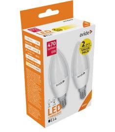 Avide CANDLE LED izzó, 2db, E14, 6W, természetes fehér fényű ABC14NW-6W-APTP