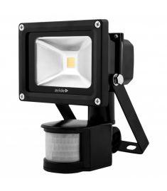 Avide FLOOD LIGHT LED reflektor mozgásérzékelővel, 10W, természetes fehér fényű ABFLNW-10W-PIR