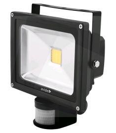 Avide FLOOD LIGHT LED reflektor mozgásérzékelővel, 20W, természetes fehér fényű ABFLNW-20W-PIR