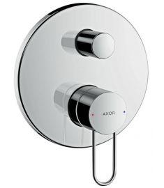 AXOR Uno falba építhető kád-zuhany csaptelep, Loop fogantyú, szálcsiszolt nikkel 38428820 Hansgrohe
