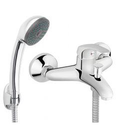 Ferro BASIC fali kádtöltő csaptelep, zuhanyszettel, króm BBC11