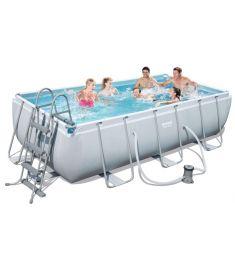 Bestway CAPRI fémvázas medence, 404x201x100 cm, létrával, vízforgatóval FFA 678