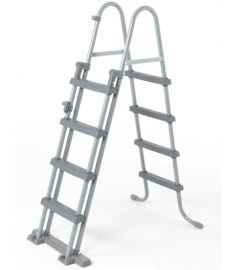 Bestway kétágú biztonsági medence létra 122 cm, pihenővel FFH 038