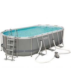 Bestway KRK fémvázas medence, 549x274x122 cm, létrával, vízforgatóval, takaróval, alátéttel, FFA 653