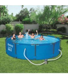 Bestway MAUI SUPERIOR kerti medence, fémvázas, 305x76 cm, vízforgatóval, FFA 672