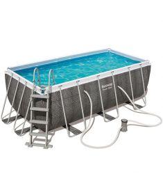 Bestway THASSOS fémvázas medence, 412x201x122 cm, létrával, vízforgatóval, FFA 654