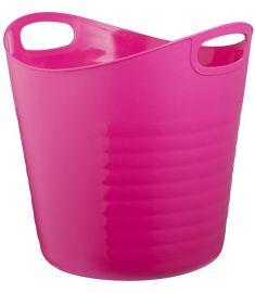 Bisk CITY nagy kosár, polietylén, 19.5x18.5 cm, rózsaszín 06670