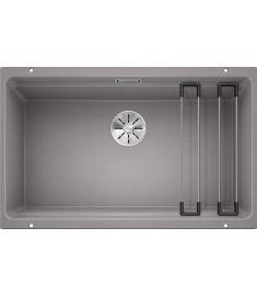 Blanco ETAGON 700-U gránit mosogató, ETAGON sínnel, dugókiemelő nélkül, 73x46 cm, alumetál 525169