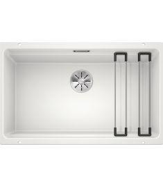 Blanco ETAGON 700-U gránit mosogató, ETAGON sínnel, dugókiemelő nélkül, 73x46 cm, fehér 525171