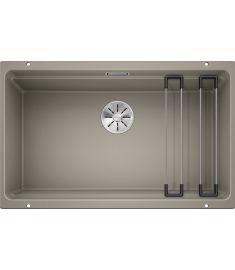 Blanco ETAGON 700-U gránit mosogató, ETAGON sínnel, dugókiemelő nélkül, 73x46 cm, tartufo 525174