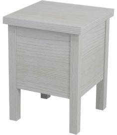 Sapho BRAND fürdőszobai szék tárolóval 35x46x35 cm, antik fehér BA122