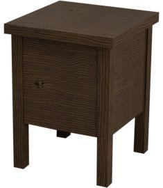Sapho BRAND fürdőszobai szék tárolóval 35x46x35 cm, pácolt fenyő BA121