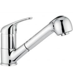 Bugnatese XARA mosogató csaptelep, kihúzható zuhanyfejes, króm 6595CR